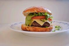 Tasty homemade hamburger! sooo delicious
