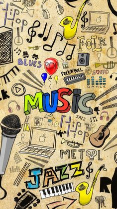 Music. Doodle art iPhone wallpapers. - @mobile9