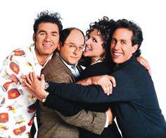 """Seinfeld"" - Jerry Seinfeld, Julia Louis-Dreyfus, Michael Richards and Jason Alexander. Julia Louis Dreyfus, Jerry Seinfeld, Monty Python, 90s Tv Shows, Movies And Tv Shows, Larry David, Breaking Bad, Kung Fu, Professor Xavier"