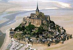 Mont Saint-Michel in France.  There is a omelet shop near here, but I'm not very big on it.