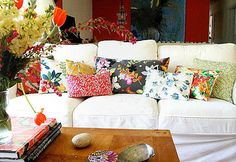love the mix of coordinating but not matching patterns