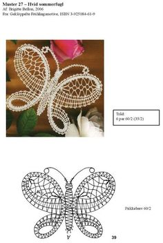 Geklöppelte frühlingsmotive - Brigitte Bellon - Maria del Carmen - Picasa Web Album Bobbin Lace Patterns, Bead Loom Patterns, Doily Patterns, Dress Patterns, Lace Earrings, Lace Jewelry, Hairpin Lace Crochet, Crochet Edgings, Thread Crochet