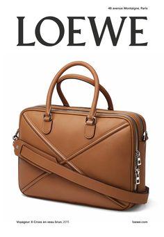 #LOEWE New Autumn Winter 2015 2016 Campaign.  Tan Calf X-Cross Travel Folder shot by Damien Ropero.  #loewejwa #LOEWEAW15