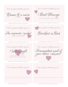 A Godly Marriage in an Ungodly World: Valentines Day | FREE printable {Love coupons!}