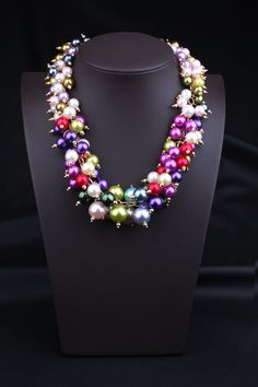 2015 Hot Sale Statement Necklace Jewelry Alloy Chain Necklace Multilayer Colorful Pearl Design Chokers Necklace L194 Wholesale - http://www.aliexpress.com/item/2015-Hot-Sale-Statement-Necklace-Jewelry-Alloy-Chain-Necklace-Multilayer-Colorful-Pearl-Design-Chokers-Necklace-L194-Wholesale/32348863318.html