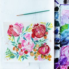 Kristy Rice Watercolor Stationery and Artwork / Oh So Beautiful Paper