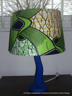 Green Blue & Yellow Handmade Ankara / African by AnkaraLampshades, £35.00