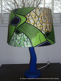 Green Blue & Yellow Handmade Ankara / African by AnkaraLampshades, £35.00