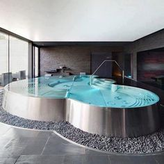 Small swimming pool at home