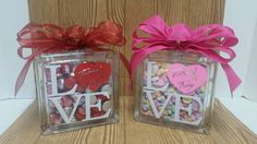Personalized Valentines Candy Love Glass by LouisvilleGiftIdeas