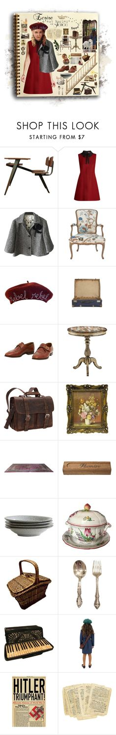 """The book thief"" by thymagine ❤ liked on Polyvore featuring Dollhouse, RED Valentino, Cynthia Rowley, Jayson Home, John Lobb, Vagabond Traveler, Sarreid and Infinity"