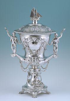 Royal Mersey Yacht Club; A superb Royal presentation silver trophy  By Elkington & Co, Birmingham 1860