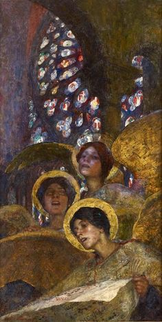 Concert of Angels, 1897 Edgar Maxence (1871–1954), French