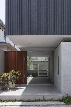 Gallery of Patio / Yaita and Associates – 14 - Architecture Diy Design Exterior, Facade Design, Modern Exterior, Interior Exterior, Patio Design, House Design, Minimalist Architecture, Japanese Architecture, Facade Architecture