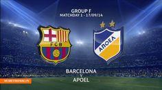 {FREE}. FC Barcelona vs. APOEL Nicosia Live Stream Online - UEFA Champio... Sporting Live, Fc Barcelona, Stream Online, Music, Youtube, Sports, Free, Musica, Hs Sports