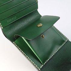 Handmade leather folded vintage women men long wallet clutch phone pur   Evergiftz