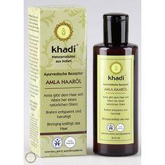 Khadi Amla Haaröl | Hilft bei Haarausfall und Ergrauen der Haare. Amla ist eines der ältesten benutzten Haar-Conditioner. Es gibt dem Haar einen natürlichen Glanz und macht es wunderbar weich. In Indien gilt Bhringaraj als berühmtes Mittel zur Förderung eines üppigen Haarwuchses und um Ergrauen und Ausfall der Haare zu stoppen. Amla versorgt das Haar mit wertvollen Vitaminen. Amla hat von allen Pflanzen die höchste Konzentration von Vitamin C und ist deshalb ein hervorragendes Antioxidant.