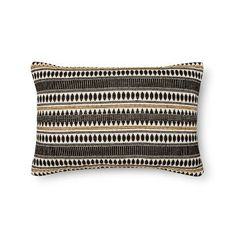 Cushion your lounge chair with the addition of the Threshold Striped Lumbar Pillow in Black Diamond Dot. This rectangular throw pillow can create a dash of interest on any sofa or chair. Decorative Items, Decorative Pillows, Lumbar Pillow, Throw Pillows, Global Decor, Bohemian Decor, Girl Nursery, Black Diamond, Living Room Designs