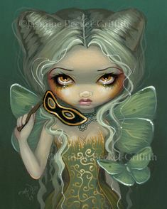 Jasmine Becket Griffith  Masquerade of Moths mask nymph.