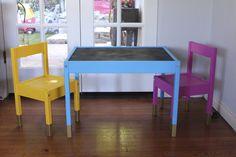 Ikea LATT table hack.