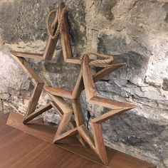 Set of Two Hanging Wooden Stars As always - we love the more simple things in life. These stars as...