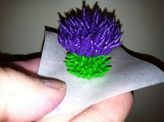 The Iced Queen: Royal Icing Thistle