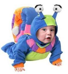 Baby Snail costume  http://barnaclebill.hubpages.com/hub/babyhalloweencostumes