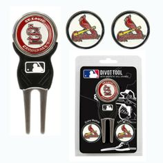 MLB St. Louis Cardinals 3 MKR Sign DVT Pack, Navy by Team Golf. $17.99. 3 double sided enamel color fill magnetic markers. Nickel color finish. Pack includes our sleek Signature divot tool with soft PVC insert. zinc. Pack includes our sleek Signature divot tool and 3 double sided enamel color fill magnetic markers.  Nickel color finish.