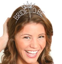 The Bride is Always a Princess! Our Bride To Be Crown Accents the Bachelorette Hair Perfectly!