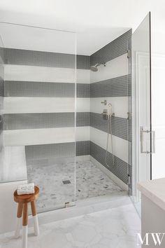 Latest Bathroom Designs, Grey Headboard, Shower Tile Designs, Marble Showers, Grey Interior Design, Frameless Shower Doors, Grey Wallpaper, Grey Kitchens, Home Remodeling
