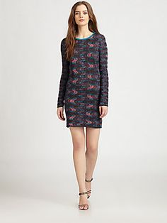 M Missoni Jersey-Backed Textured Knit Dress