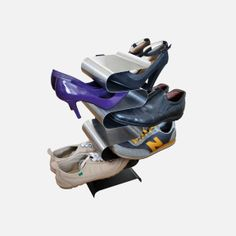 Check out Nest shoe rack free standing - Silver from Tesco direct Shoe Storage Display, Vertical Shoe Rack, Metal Shoe Rack, Shoe Racks, Shoes Stand, Tesco Direct, Urban Trends, Visual Merchandising, Discount Designer
