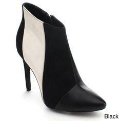 Machi Shak Women's Pointed Toe Side Zipper Stiletto High Heel Ankle Booties
