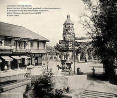 Santa Cruz Church, east end of Escolta Street, Manila, Philippines, 1908 Vintage Pictures, Old Pictures, Old Photos, Philippines Culture, Manila Philippines, Philippine Architecture, Philippine Holidays, Filipina, Pictures To Paint