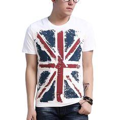 01002317fc9 England Style UK Flag Print T Shirt Men Brand Geometric Tees Mens Hip Hop  High Crew