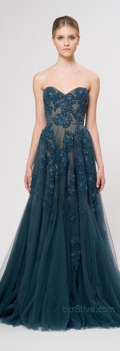 incredible blue lace/nude underlay ball gown