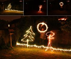 Painting with sparklers