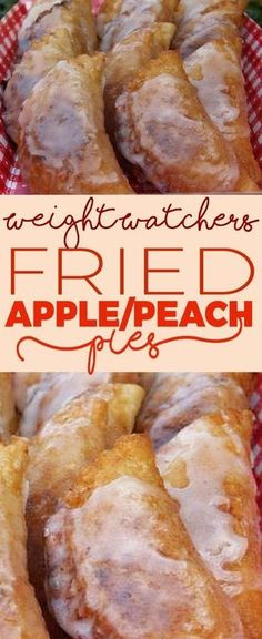 Weight Watcher's Fried Apple Or Peach Pies! Ww Recipes, Fruit Recipes, Low Carb Recipes, Dessert Recipes, Cooking Recipes, Low Fat Desserts, Healthy Desserts, Healthy Recipes, Peach Pies