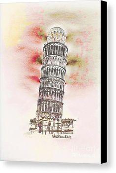 """Leaning Tower Of Pisa""  from the art studio of Scott D Van Osdol available at fineartsamerica.com"
