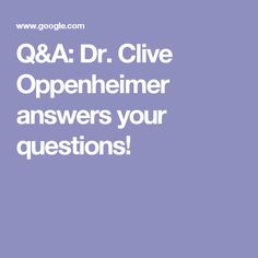 Q&A: Dr. Clive Oppenheimer answers your questions!