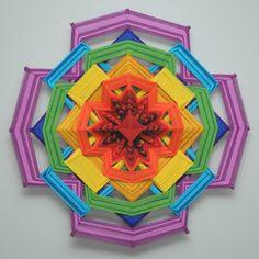Colors of Life Version 2 a 24 inch wool yarn Ojo by JaysMandalas
