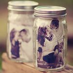 Black and White Pics in Mason Jars