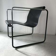 Circa 1980 Reminding us of Jean Royere's design, this chair features a tubular metallic chromed structure and a continuous perforated metal curved seat and backrest painted in black. Perforated Metal, Metal Chairs, Storage, Furniture, Design, Home Decor, Style, Metal Cafe Chairs, Purse Storage