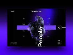 NomadUXE — Landing by Admir Hadžić on Dribbble Web Ui Design, Page Design, Website Design Inspiration, Graphic Design Inspiration, Web Layout, Layout Design, Brutalist Design, News Website Design, Affinity Designer
