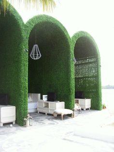Boxwood cabanas at the Mondrian Miami