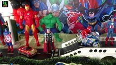 Decoração infantil Super Heróis para festa de aniversário