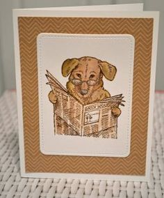 Roberta Wax is sharing our Newspaper Pup on her blog today! What will you create for Father's Day? #cre8time