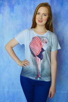 T-shirt Koszulka damska z nadrukiem Ikona Hollywood Marilyn Monroe | Dariza www.dariza.pl Sklep Dariza Stworzona By inspirować