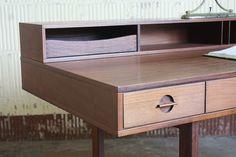 Resourceful Peter Lovig Nielsen Danish Midcentury Modern Flip Top Partners Desk for Dansk (Denmark, 1970s) | by Kennyk@k2modern.com