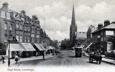 Lewisham High Street, Taken from a postcard dated 1910 | Junction with ladywell road
